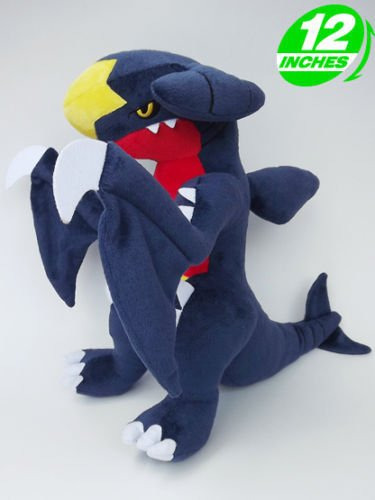 "Plush New Pokemon Garchomp Carchacrok Knakrack STUFFED TOY Doll 12""high"