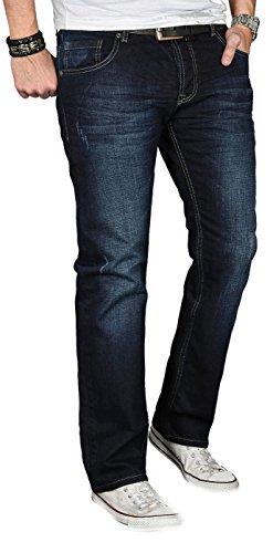 Homme Salvarini Alessandro Jeans Bleu Nuit Ez1nq1w7