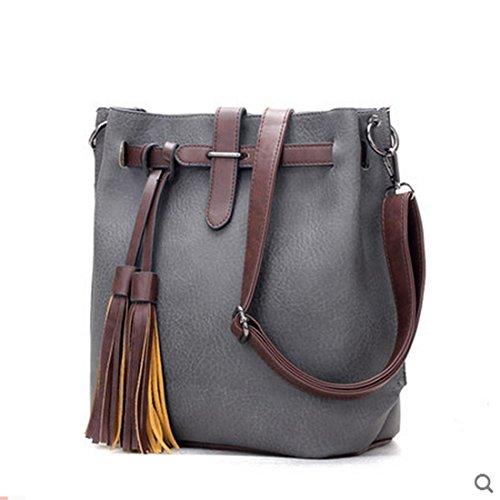 sfpong - Bolso mochila  para mujer, marrón (Marrón) - SFPONGD80148B gris oscuro