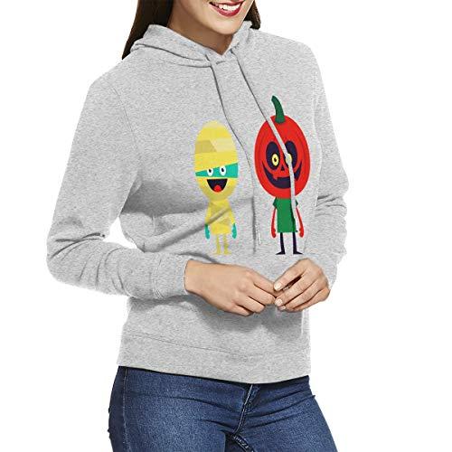 Womens Hoodies Halloween Mummy Pumpkin Decoration Custom Personalized Sweatshirt Hoodie Long Sleeve Shirt]()