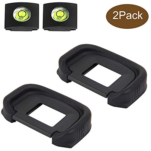 EG Eyepiece Eyecup Viewfinder Eye Cup for Canon EOS 5D Mark III 3/5D Mark IV 4/7D /1D Mark IV 4 Camera (2-Pack), ULBTER 5D MarkIII MarkIV viewfinder Eyecup with Bubble Spirit Level Hot Shoe Cover