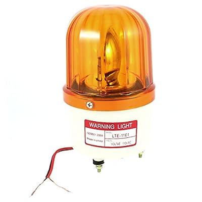 Industrial AC 110V Bulb Flash Rotary Signal Warning Light Yellow