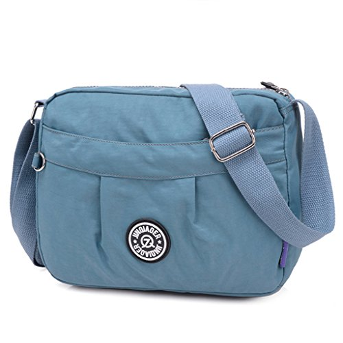 Blue Fabric Handbags - TianHengYi Small Water Resistant Women's Cross-body Shoulder Bag Lightweight Nylon Fabric Messenger Bag (Blue)
