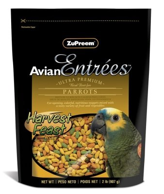 ZuPreem AvianEntrees Parrot Harvest Feast 2-lb bag, My Pet Supplies