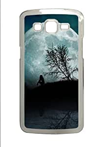 linJUN FENGGirl Moon Night Water PC Case Cover for Samsung Grand 2 and Samsung Grand 7106 Transparent