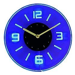 ADVPRO cnc2001-b Round Numerals Illuminated Edge Lit Bar Beer Neon Sign Wall Clock with LED Night Light
