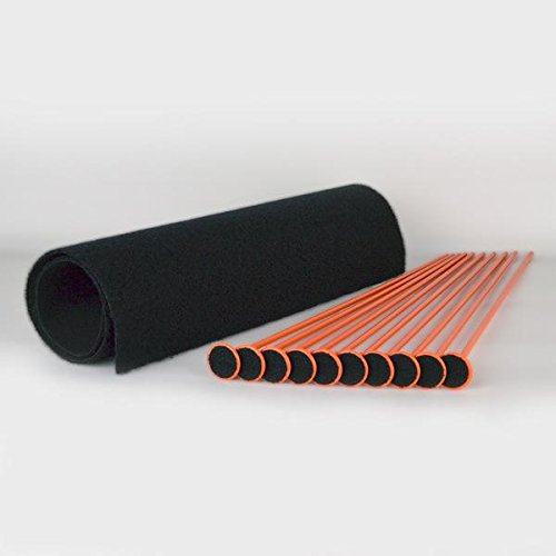 Gun Storage Solutions RR10SK-OR  10 Rifle Rod Starter Kit (Orange, 10 Rifle Rods and 15