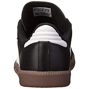 adidas Samba Classic Leather Soccer Shoe (Toddler/Little Kid/Big Kid),Black/ White,13 M US Little Kid