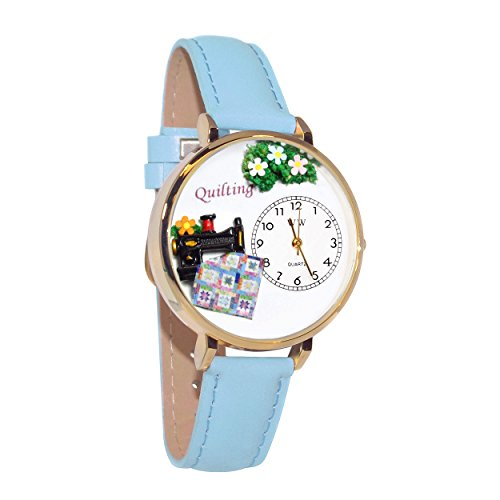 Whimsical Watches Women's G-0450012 Quilting Light Blue Leather Watch