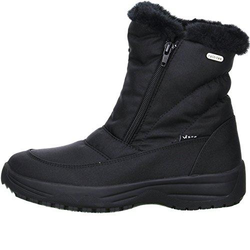 Vista Damen Snowboots Winterstiefel Stiefeletten EISKRALLEN schwarz Schwarz