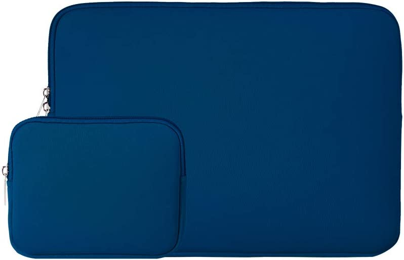 """RAINYEAR 13 Inch Laptop Sleeve Case Soft Carrying Bag Cover with Accessories Pouch,Compatible with 13"""" MacBook Air/Pro/Retina/TouchBar for 13"""" Notebook Computer Ultrabook Chromebook(Navy Blue)"""