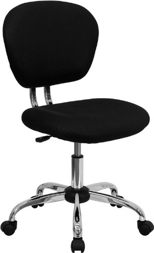 - Flash Furniture Mid-Back Black Mesh Swivel Task Chair with Chrome Base