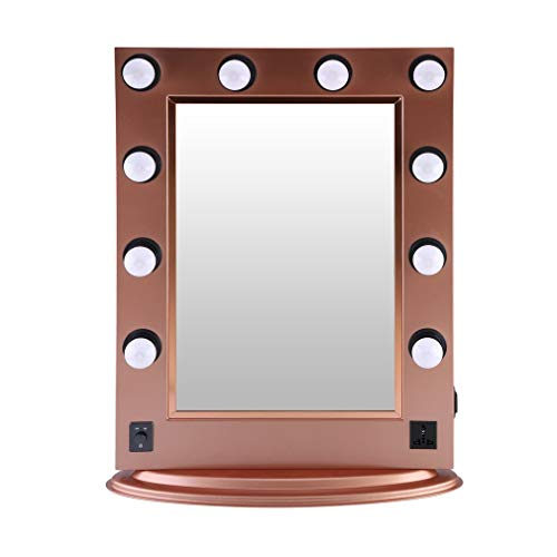 Upgraded Lighted Vanity Mirror w/Turn Off Button, Blackpoolfa