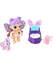 Baby Alive Glo Pixies Minis Doll, Plum Rainbow, Glow-In-The-Dark Doll for Kids Ages 3 and Up, 3.75-Inch Pixie Toy with Surprise Friend