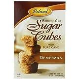 Roland Rough Cut Demerara Sugar Cubes, 17.5 oz (Pack of 12)