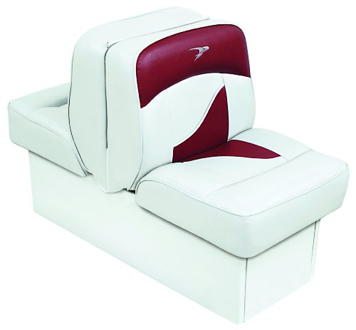 Wise Deluxe Jump Seat (Wise 8WD1033-0032 Contemporary Series Lounge Seat, White/Red)