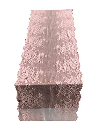 - Lace Table Runner Lace Decor Overlay Tabletop Runners R01 (Bright pink)