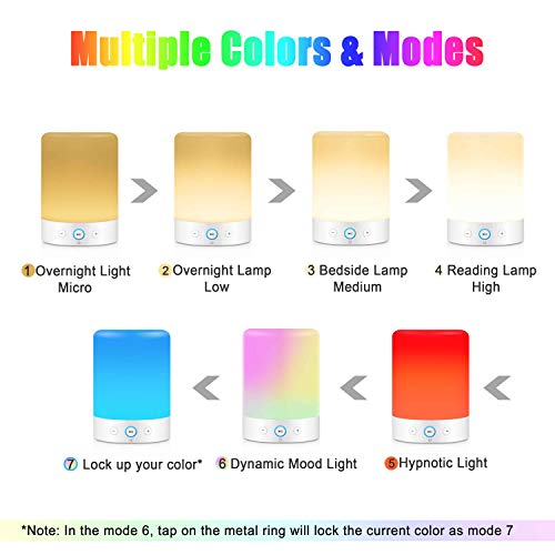 MRCOOL Night Light Bluetooth Speaker, Dimmable Table Lamp LED Speaker with RGB Colors, Gifts for Men Women Teens…