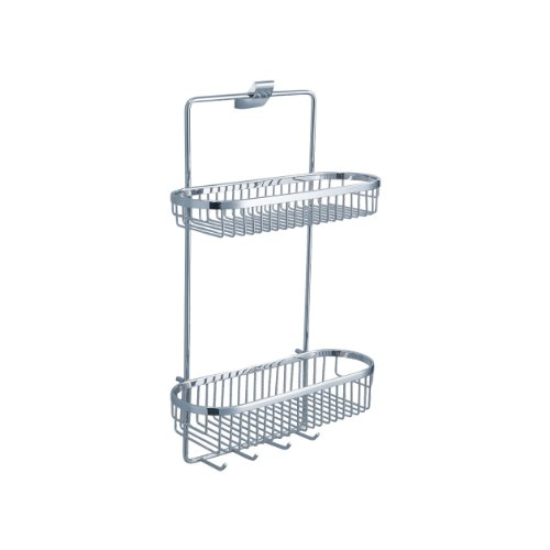 Fluid Faucets FA13054 Sublime Wall-Mounted 2-Tier Shower Basket, Chrome, 1-Pack by Fluid Faucets