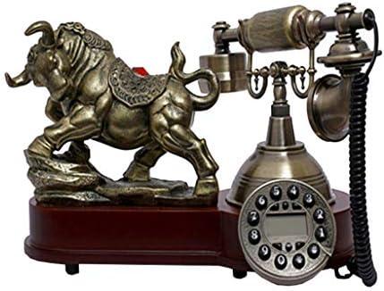樹脂模造銅レトロな昔ながらのロータリーダイヤル アンティーク電話木材樹脂高級クラシックヨーロッパ家族の家の装飾レトロ固定電話