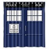 Winterby Custom Police Box Public Call Waterproof Fabric Bathroom Shower Curtain 66' x 72'