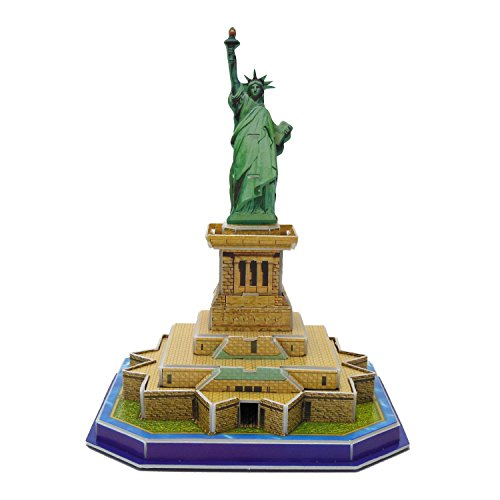 Creative 3D Puzzle Paper Model Statue of Liberty DIY Fun & Educational Toys World Great Architecture Series, 29 Pcs