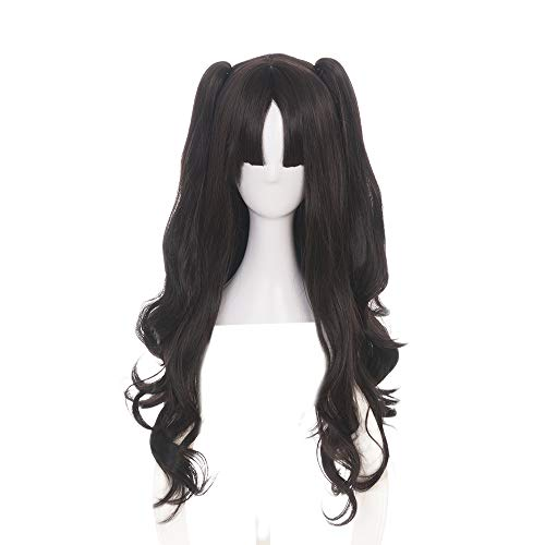 APE Halloween Costume Cosplay Wig Black Brown Long Wavy Wig with Removable Clip Claw Ponytails for Cosplaying Game/TV/Film/Anime Character -