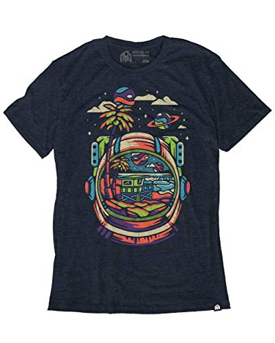 INTO THE AM Reflections Graphic Men's Tee (Navy, X-Large) - Music Graphic Tees