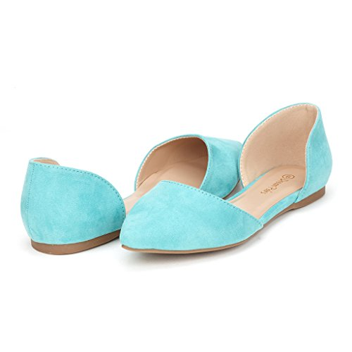 [DREAM PAIRS FLAPOINTED Women's Casual D'orsay Pointed Plain Ballet Comfort Soft Slip On Flats Shoes New,Mint,7 B(M) US] (New Mint)