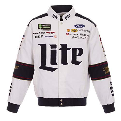 Brad Keselowski 2019 Miller Lite Uniform Jacket Size XLarge White