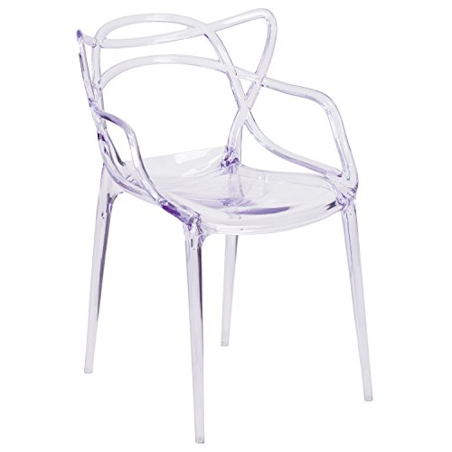 Flash Furniture Nesting Series Transparent Stacking Side Chair Patio Furniture Stack Chairs