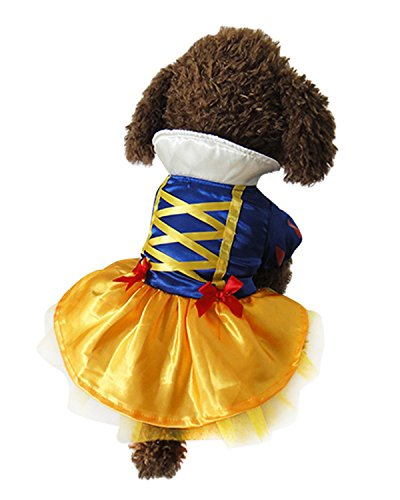 Roll Costume Amazon Tootsie (Aifang Halloween Pet Dog Puppy Costume Fleece Snow White Cartoon Coat Jacket Cosplay Clothes Autumn Winter Warm Jumpsuit Outfit Apparel)