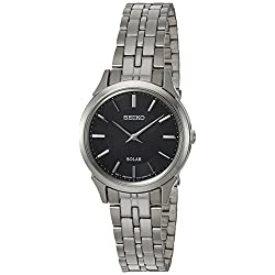 Seiko Women's Quartz Stainless Steel Casual Watch, Color:Silver-Toned (Model: SUP343)