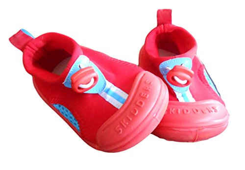 Skidders Boy's Red Skidproof Sun Grips Water Shoes Sz: 8 (24 Months)