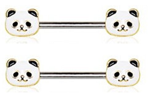 Nipple Panda Body Jewelry gauge