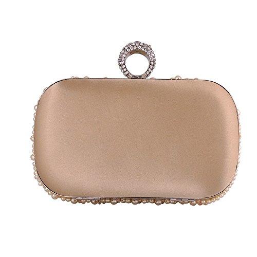 Bolso de embrague para mujer clutch beige