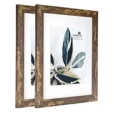 Scholartree Wooden Picture Frame Wooden Photo Frame for Wall with Mat (Yellow and Brown,11x14 inches 2P) - ELEGANT DESIGN: 11x14 inches Yellow and Brown Picture Frame made to display 8x10 inches pictures with Mat or 11x14 inches Without Mat. Hanging hardware included for vertical or horizontal wall display.A set has 2 photo frames for convenient and affordable. HIGHEST QUALITY MATERIAL: The frame includes built-in metal tabs for easy access to display your photos, cards and memories. ATTRACTIVE LOOK: White coloured mat keeps photos and artwork looking great for years. Turn your portraits, artful prints and everyday shots into a spectacular display. The actual mat opening is designed to hold a 8x10 inch photo in place. We recommend taping the photo to the back of the mat. - picture-frames, bedroom-decor, bedroom - 41UzEYGl6OL. SS400  -
