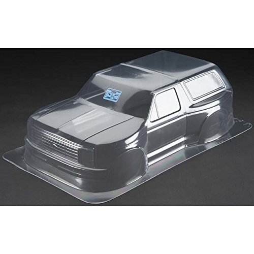 Sc10 Body - ProLine 342300 1981 Ford Bronco Clear Body for Pro-2Sc, Slash 4X4 and SC10 (Requires Extended Body Mount Kit)