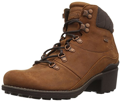 Lace Snow Boots (Merrell Women's Chateau Mid Lace Waterproof Snow Boot, Oak, 10 M US)