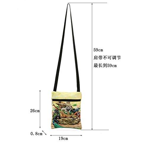 Animal Messenger Postman Single Bag A Bag Print TOOPOOT Women's Package Shoulder ppW6txwHqn