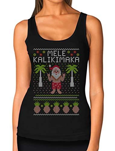 TeeStars - Mele Kalikimaka Hawaiian Santa Ugly Christmas Women Tank Top