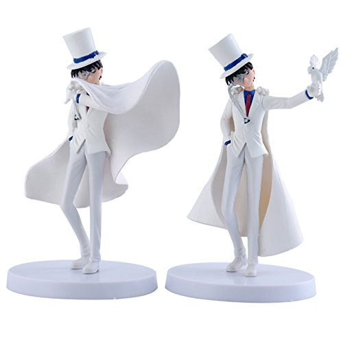 2x Detective Conan/Case Closed Kaito Kid The Phantom Thief 14cm/5.8