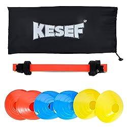 KESEF ke001 Agility Ladder Plus 6 Sports Cones, Nice Carry Bag, Instruction Sheet