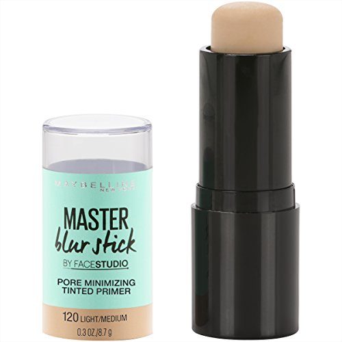 Maybelline Facestudio Master Blur Stick Primer Makeup, Light/Medium, 0.3 oz.