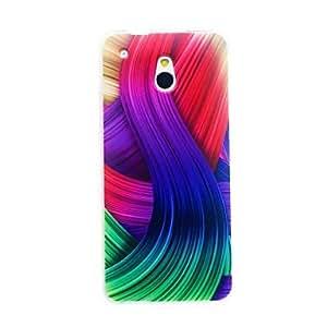 Kinston Color Ribbon Pattern TPU Soft Case for HTC One Mini M4