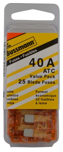 - Bussmann (VP/ATC-40-RP) Orange 40 Amp 32V Fast Acting ATC Blade Fuse, (Pack of 25)