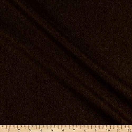 (Tuva Textiles 100% Wool Flannel Heather Fabric, Brown Heather, Fabric By The)