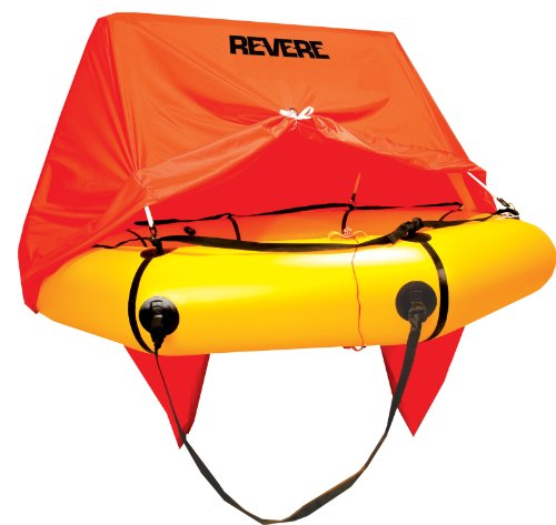 Revere Coastal Compact 4 Person Liferaft with Canopy