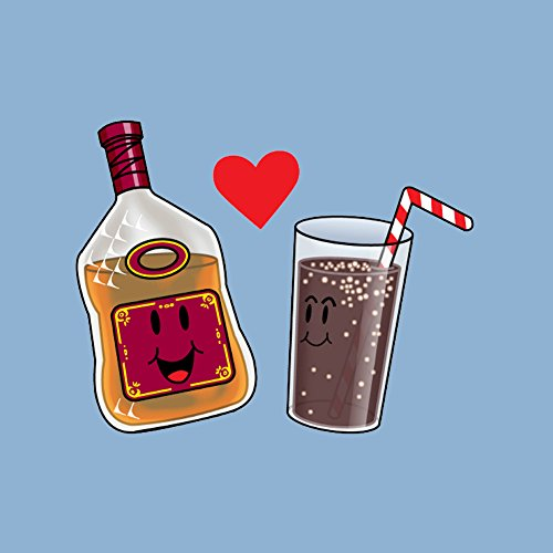 (Rum and Cola Love Destined to Be Cute Humor - Vinyl Sticker)