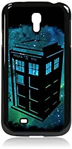 Tardis in Space - Hard Black Plastic Snap - On Case-Galaxy s4 i9500 - Great Quality!